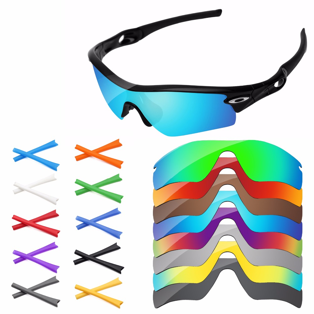 4e591bd76c PapaViva Polarized Replacement Lenses and Rubber Earsocks for Authentic  Radar Path Sunglasses Frame - Multiple Options