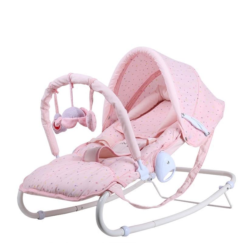 2019 vente directe haut à la mode en métal multi-fonctionnel bébé chaise berçante berceau nouveau-né cadeau bébé lit - 5