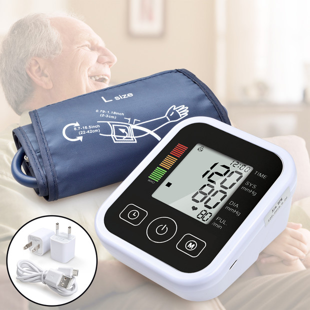 ELERA Arm Blood Pressure Monitor Digital Portable Heart Blood Pressure Meter for Measuring Automatic sphygmomanometer tonometer