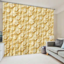 European Living Room Curtain Photo Curtains For Living Room Bedroom Window Curtain Relief flower Drapes Cortinas(China)