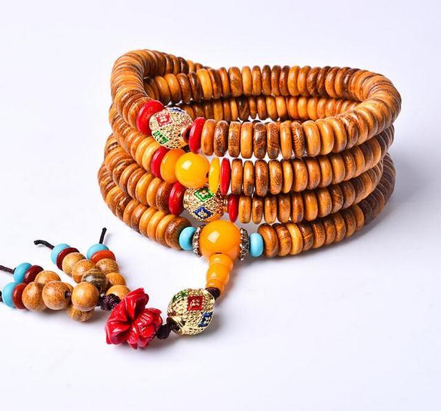 2015 fine gold sandalwood beads 216 beads bracelet piece bracelets explosion models new rosary