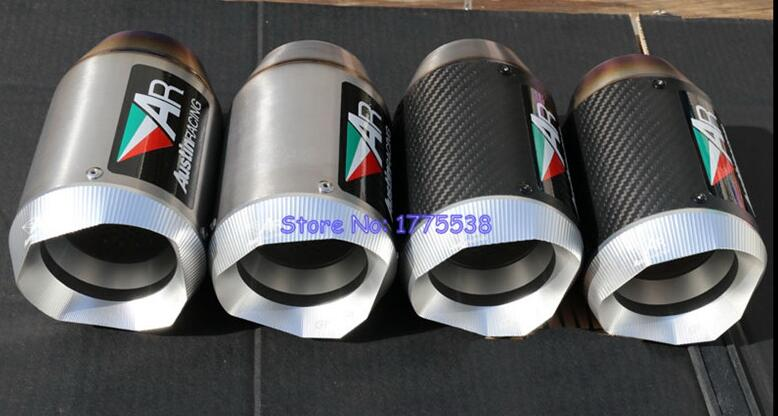 New Model Titanium Alloy Motorbike Muffler Exhaust Escape ID:51mm/54mm/57mm/61mm/63mm/65mm/67mm/70mm Motorcycle Exhaust Muffler