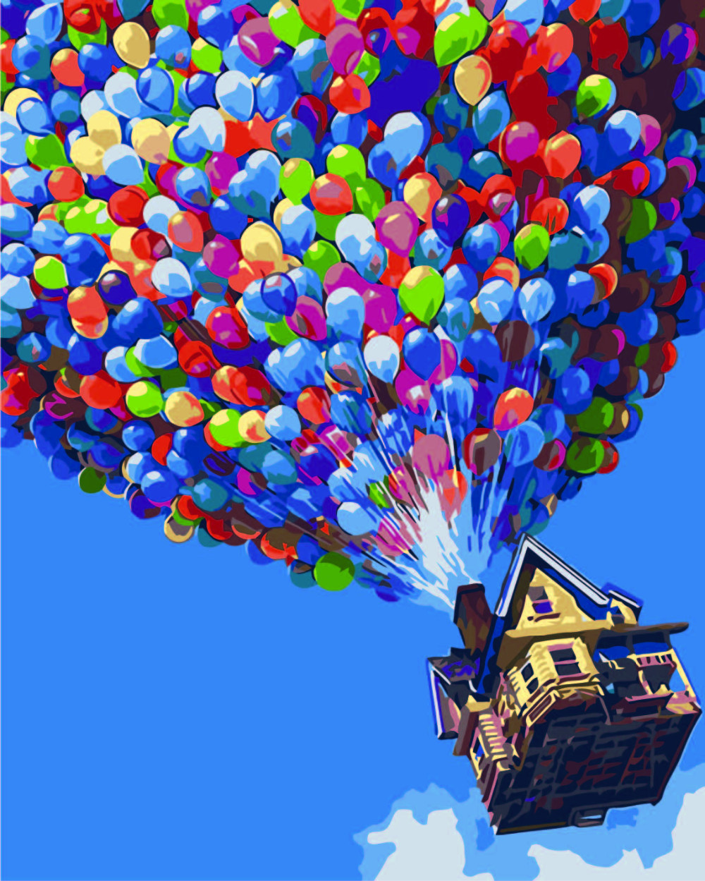 up movie balloon house art