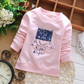 Primavera otoño bebés niños infantes, Babi niñas arco lindo de manga larga Tops T-shirt MT661