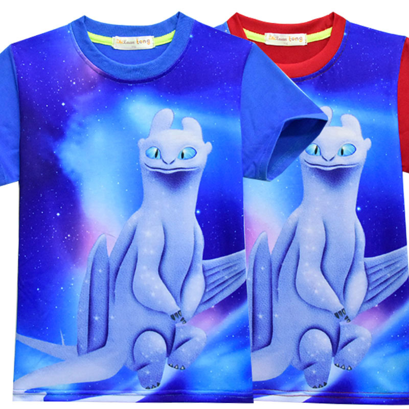 Light Fury How to Train Your Dragon 3D All Over Sublimation Printing Shirt