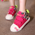 Princess Girls Canvas Shoes Fashion Flower Print Children Sneakers High Style Bowknot Design Kids Casual Shoes Size 26-38