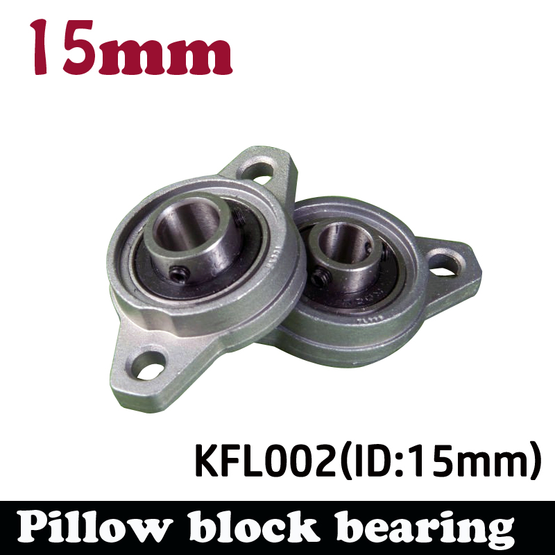 1pcs <font><b>KFL002</b></font> 15mm pillow block bearing zinc alloy insert linear bearing shaft support CNC part image