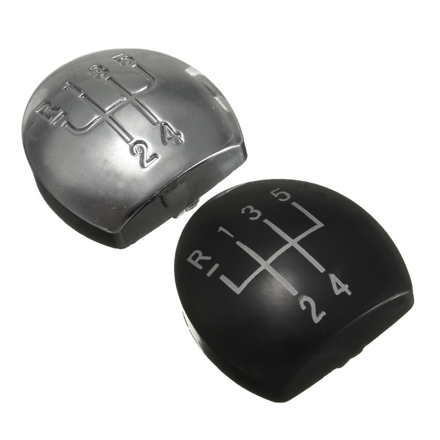 Chrome Black Car Automobile Gear Shift Knob Cap Shifter Cover For Renault/Clio 2 172 182