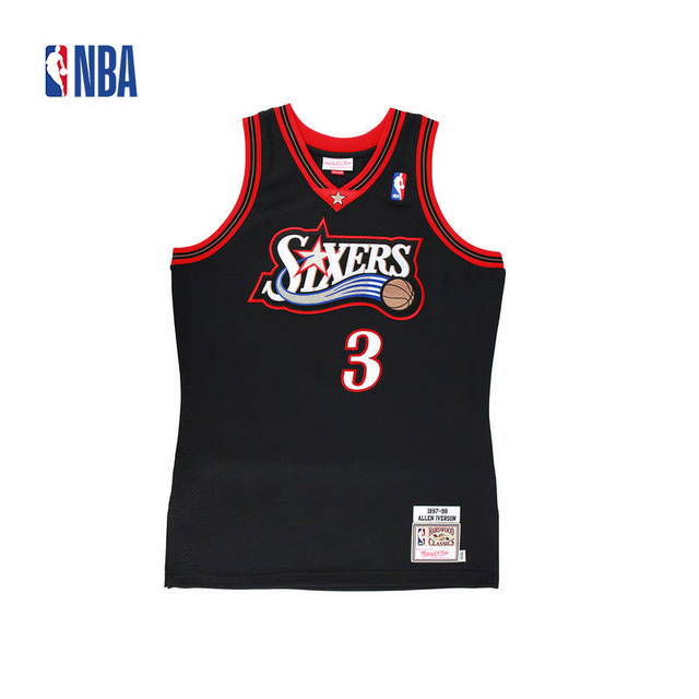 0331f213160 Original NBA Jerseys NO.3 AUTHENTIC PlayerVersion Retro Jerseys  Philadelphia Sixers Allen Iverson Men s Jerseys