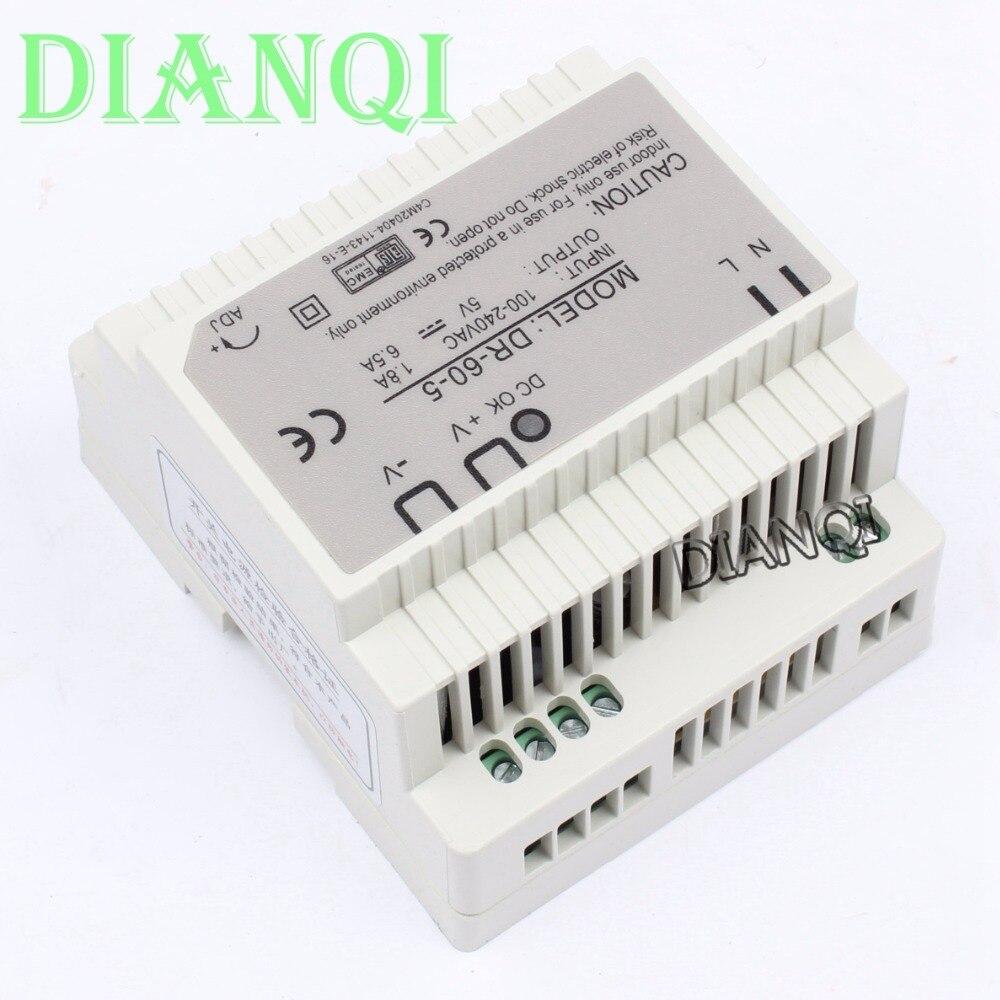 все цены на DIANQI Din rail power supply 5V power suply 5v  ac dc converter dr-60-5 good quality онлайн