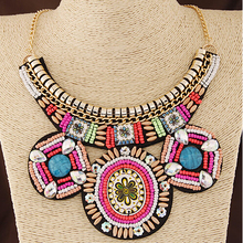 MX0039 Fashion New Charm Hot Sale Bohemian Maxi choker necklace short Accessories pendant round collar necklaces for women