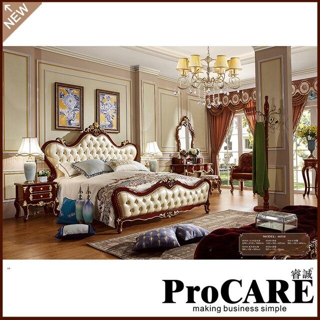 designer modern leather  king size bedroom furniture