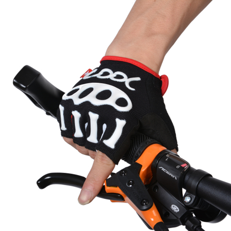 SPAKCT Short Finger Half Finger Cycling Sportwear font b Gloves b font Bicycle Half Finger font