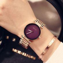 Гонконг Роскошный GUOU Корейский темперамент простой MS Розовое Золото стали часы кварцевые часы студенты Кварцевые Наручные Часы