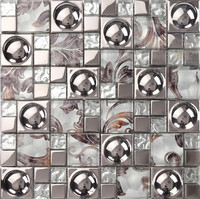 3D hat electroplating glass tiles 300x300mm for bathroom shower tiles kitchen backsplash wall and floor tiles free shipping