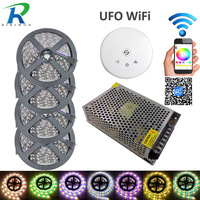 20m LED Light Strip SMD 5050 RGBW RGBWW 1200LEDs 60LEDs M LED Strip Transformer UFO WiFi