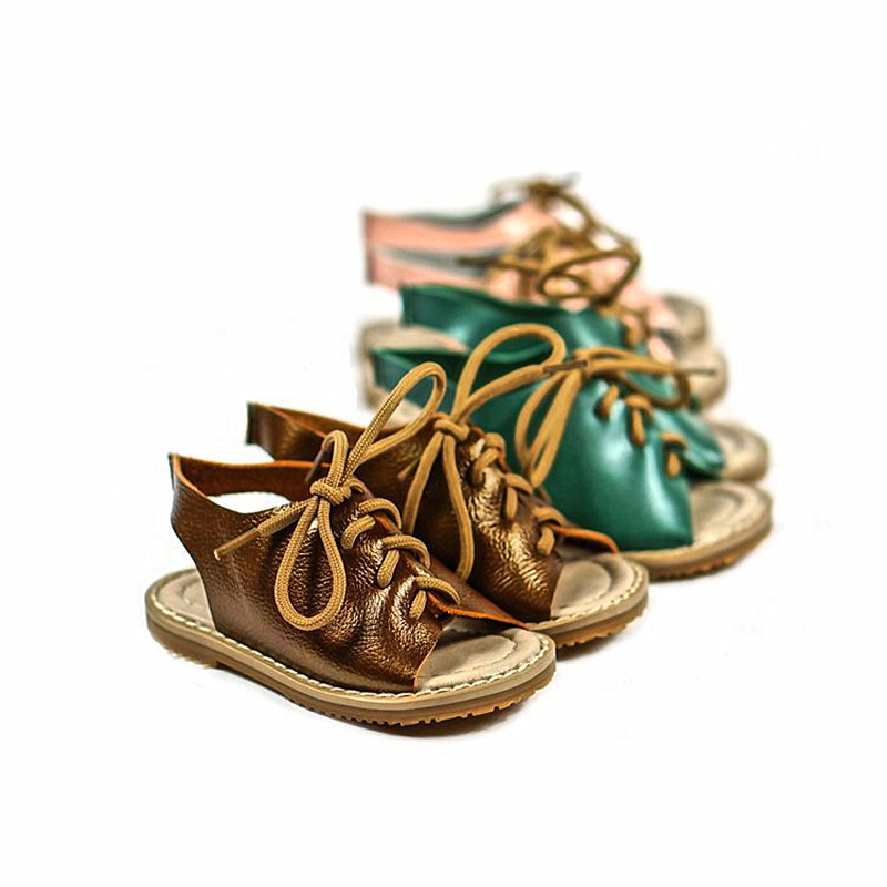 Top quality Girls sandals Genuine leather kids shoes beach baby sandals Fashion Children sandals Free shipping