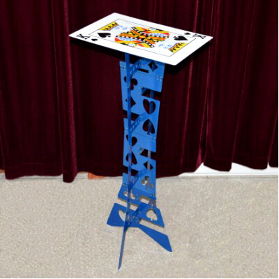 Table pliante magique en alliage d'aluminium, couleur bleue (table de poker), meilleure table de magicien, tours de magie, scène, illusions, accessoires