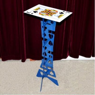 Table pliante magique en alliage d'aluminium, couleur bleue (table de poker), meilleure table de magicien, tours de magie, scène, illusions, accessoires