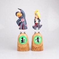 9 Inches Shonen Manga NARUTO First bomb GK Akatsuki member Deidara Tobi PVC Action Figure Collectible Model Toy Box 23cm N575
