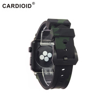 24mm New Design Silicone Watchband For 38/40/42/44 mm Series Apple Watch Classic Camouflage Bands Quality Tenacity Strap
