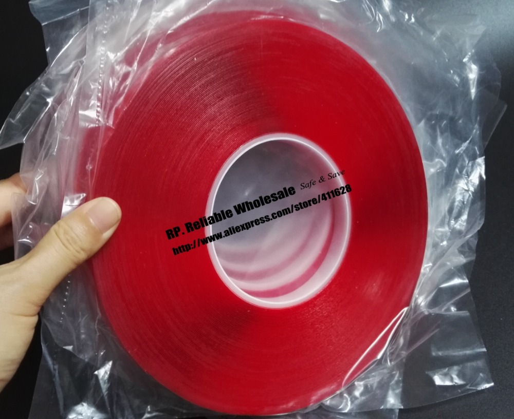 0.5mm Thick, 5 Rolls,(8mm*33Meters) Transparent Double Adhesive Acrylic Glue Tape for Car Strip, Glass Joint 5x 5mm 33 meters 0 8mm double sided transparent acrylic glue adhesive tape for auto glass metal car track shim attachment