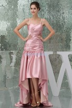 free shipping 2013 new hot custommade size short front long back pleat plus bridal reception dress pink Bridesmaid Dresses