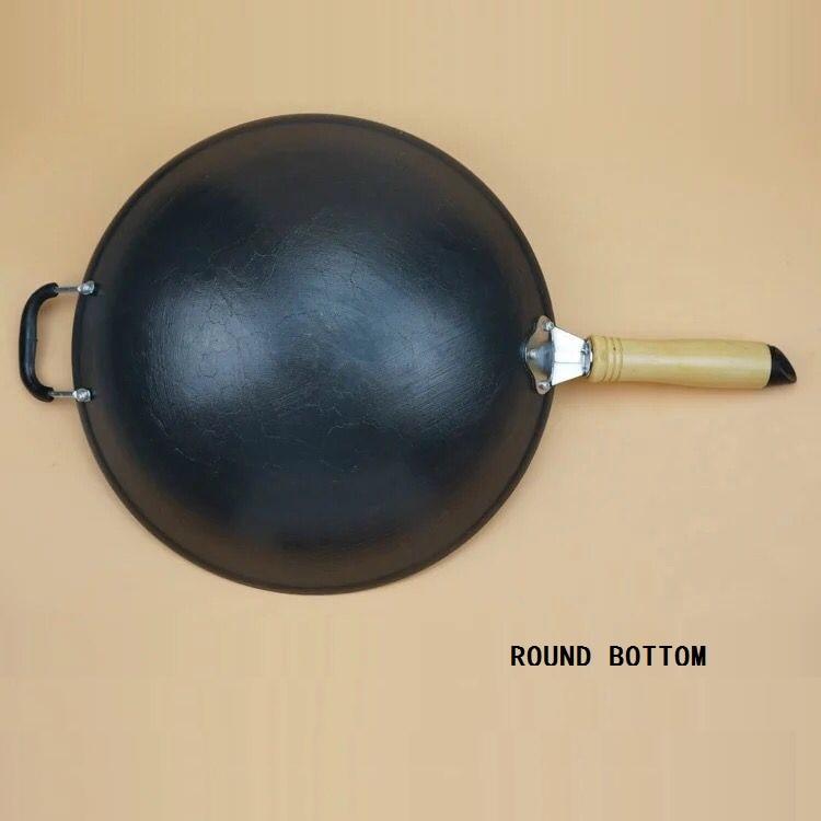 Round bottom cast iron pots