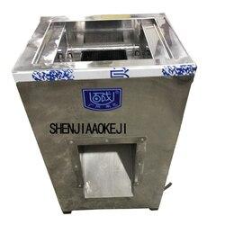 Elektryczna maszyna do cięcia mięsa profesjonalne ze stali nierdzewnej przemysłowe krajalnica do mięsa mrożonego 220 V pionowe mięsa krajalnica 1 pc