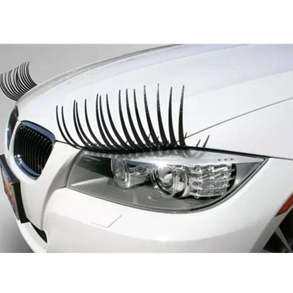 Black Eyelashes Headlight Sticker