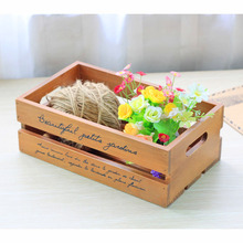 2017 vintage retro wood flower pots storage box treasure chests wooden boxes plant tray wooden crate storage box letter holder