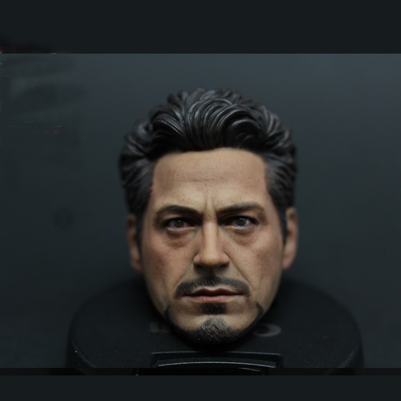 "Custom 1//6 Scale Head Sculpt Iron Man Tony Stark For 12/""  Hot Toys Male"