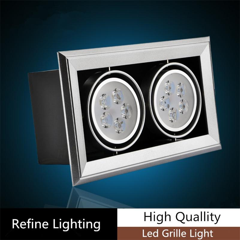 10W LED Grille Lamp Office Lighting Black Body LED Grille Lattice lighting Two Heads LED Spots Grille Lamps 2*5*1W Hotel Hall 10 and 12 2pcs chakra white frosted quartz crystal singing bowl 432hz