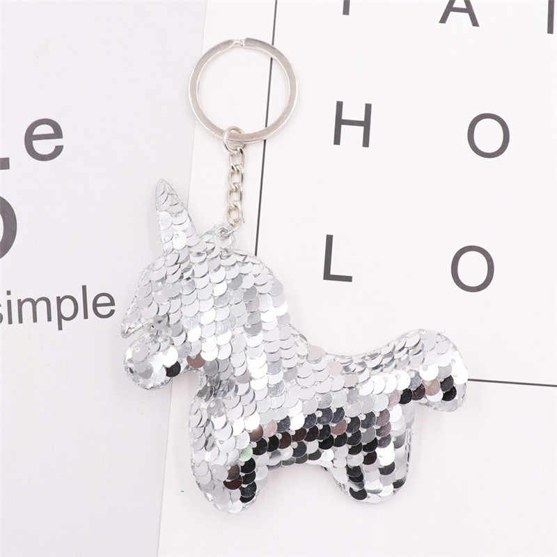 Sitaicery เลื่อม Unicorn พวงกุญแจ Brelok น่ารัก Key CHAIN Charms บนกระเป๋าผู้หญิงอุปกรณ์เสริมคริสต์มาส Key Ring สำหรับคีย์
