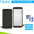 Full LCD DIsplay + Touch Screen Digitizer For LG Leon H340 h320 h324 H340N + Frame Assembly Gold + Tools