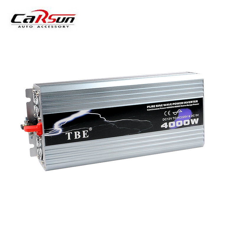 Power Inverter 4000W Pure Sine Wave Inverter DC 12V/24V/48V to AC 110/220V Car Converter Solar Power Inverter Peak Power 8000W 4000w peak w 4 usb car power inverter 2000w dc 12v to ac 220v charger converter car led power inverter 4000w dc 12v to ac220v