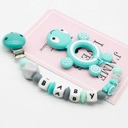 Personalizado personalizado pessoal chupeta clipe silicone tartaruga pingente dentição do bebê enfermagem manequim corrente