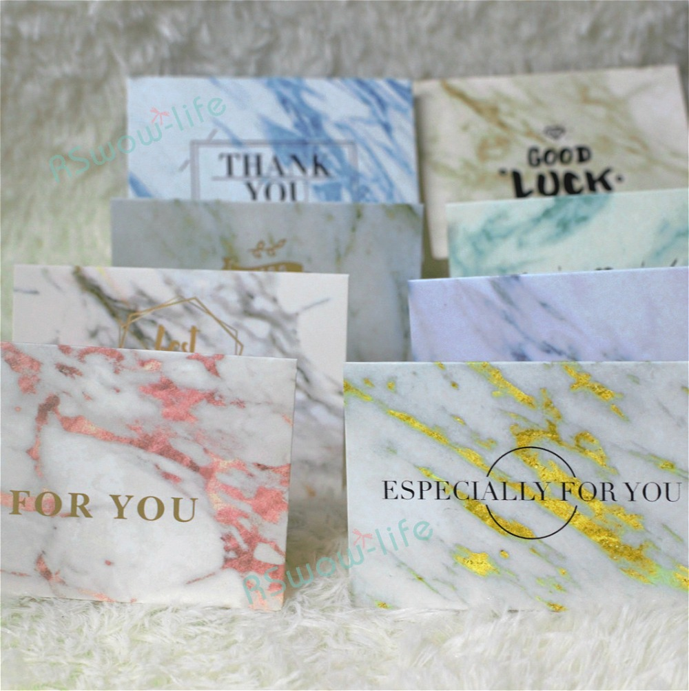 10pcs Marble Retro Valentine 39 s Day Greeting Card New Year Card Business Folding Greeting Cards Hot Stamping Cards in Cards amp Invitations from Home amp Garden