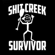 Creek Survivor Funny Camping Car Styling Vinyl Decal Bumper Sticker Car Truck Window Graphics Jdm