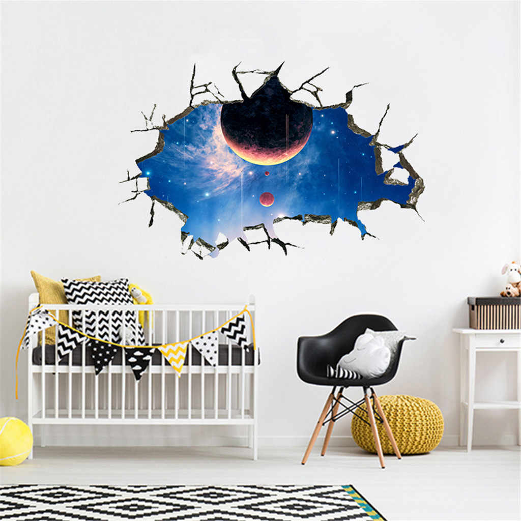 2019 3D стены Стикеры s звезда серии пол, стены Стикеры съемные настенные наклейки Винил художественный Декор для комнаты красивые наклейки для комнаты малыша