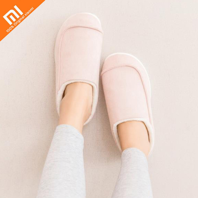 Original xiaomi mijia One Cloud suede can pull insoles cotton trailer men and women home winter slippers couple models