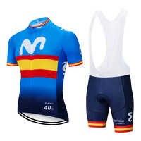 2019 équipe coloré M cyclisme jersey 12D gel vélo shorts ensembles hommes Ropa Ciclismo Maillot Culotte biycling haut bas costume