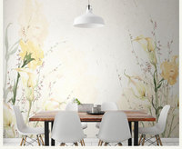 Hand Painting Large Custom 3d Wall Murals Wallpaper For Dining Room Flower Mural Background 3d Photo