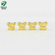 AAA quality natural Stone Hematite loose Butterfly beads gold rose gold 5X6mm For DIY (10 Pieces) Jewelry Making CPHB1020