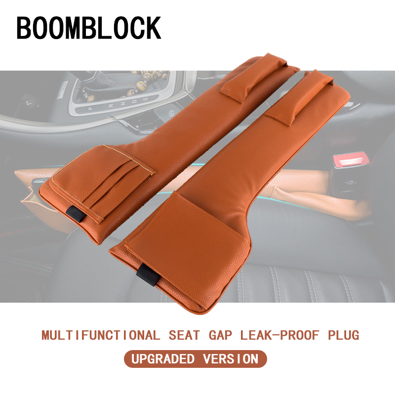 BOOMBLOCK Car Seat Pad Gap Safety Belt Storage For Opel Astra H G J Volvo S60 V70 XC90 Citroen C5 C4 C3 Subaru Forester