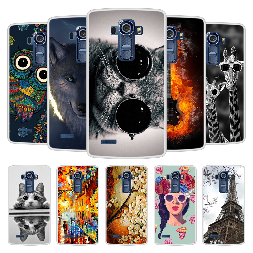 Case for LG G4 Soft Silicone TPU Chic Pattern Painting Cover Coque for LGG4 H815 Phone Case image