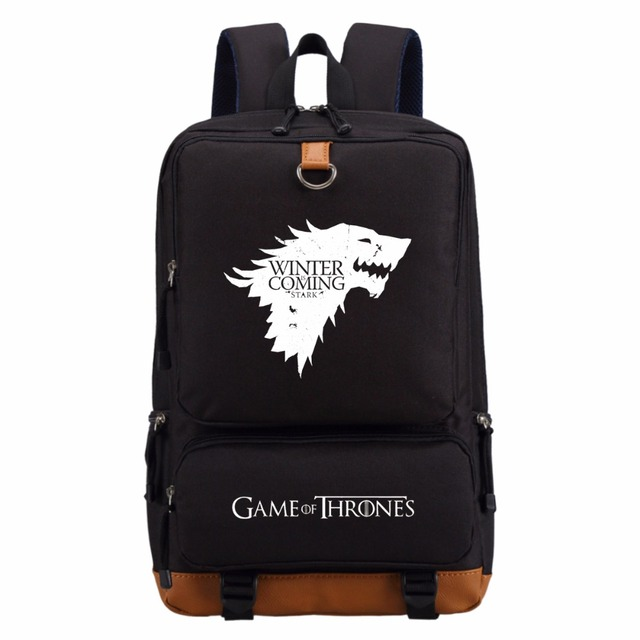 Soft Game of Thrones Bag for Teenagers