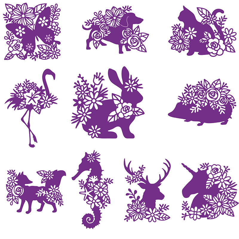 Animal Metal Cutting Dies Stencil DIY Scrapbooking Paper Card Crafts Embossing