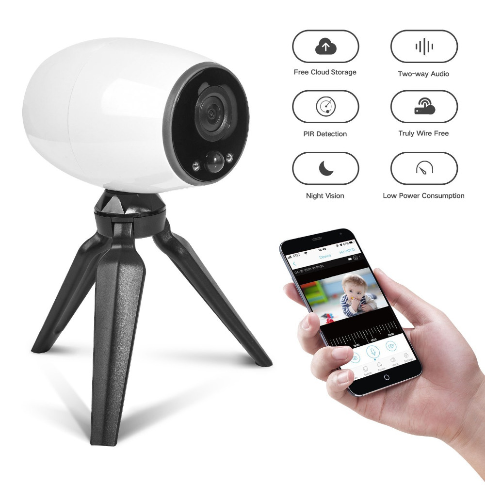 Smart Wireless CCTV Security IP Camera WiFi Battery Powered Home Outdoor Waterproof surveillance wifi baby Camaras de seguridad