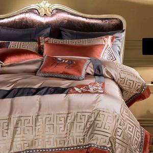 Image 4 - Juego de cama con brocado de lujo de seletanya, cama king queen de doble tamaño